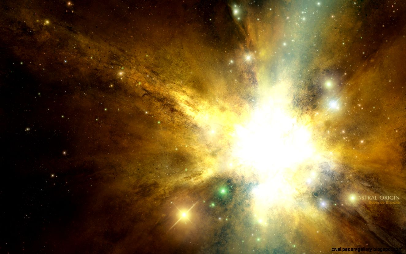 Full HD Wallpapers  Space Nebulae Stars Yellow by Robin de