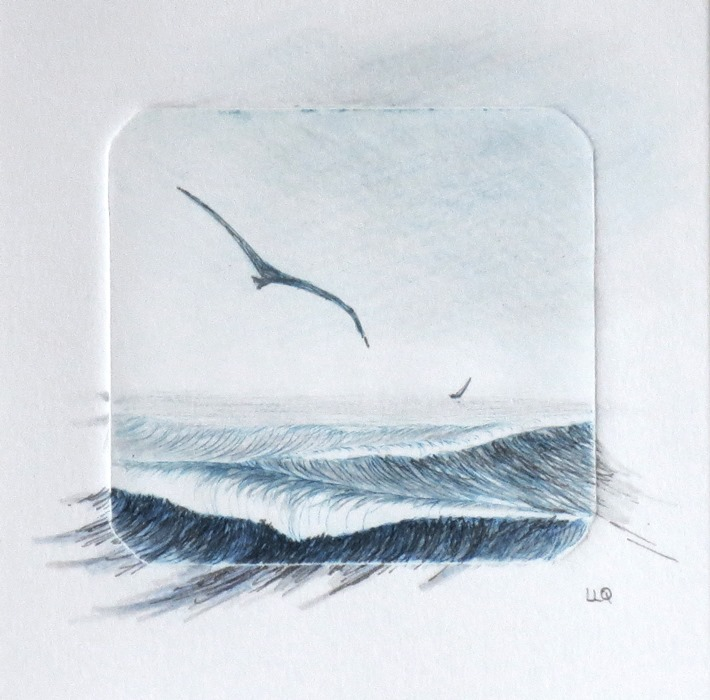 Ocean Breeze - mixed media