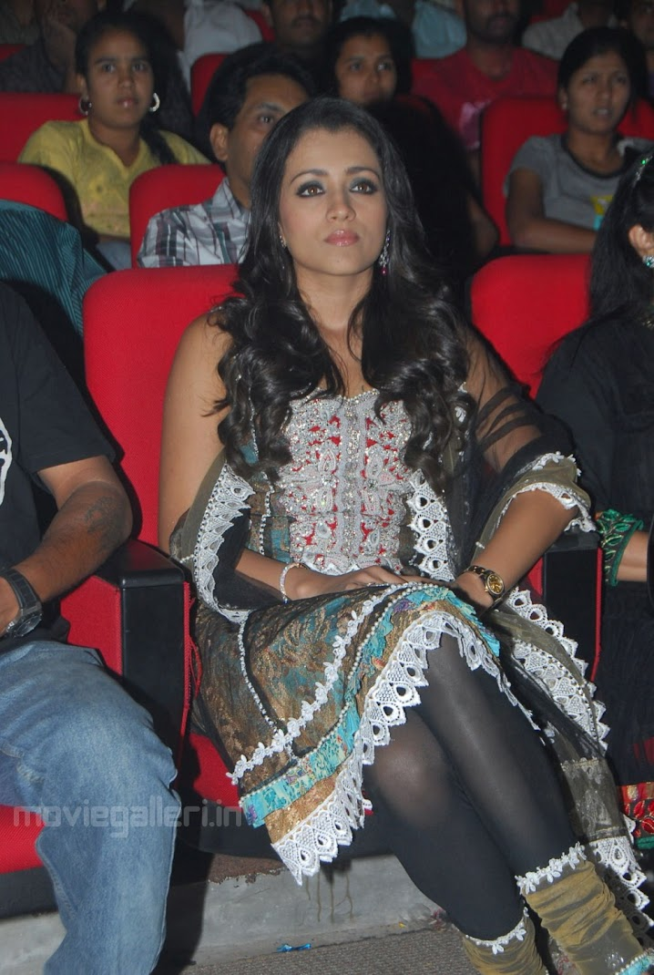 Hot Trisha at Theen Maar Audio Release
