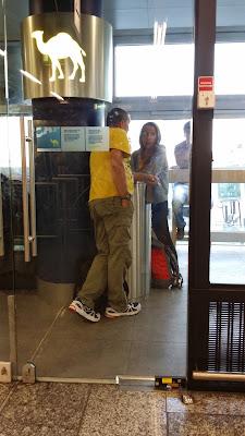 Espacio para fumadores en el aeropuerto de Frankfurt
