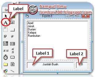 Menghitung Jumlah Item ListBox Divisual Basic