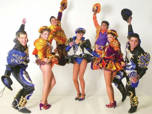 Vestimenta colorida de Los Caporales
