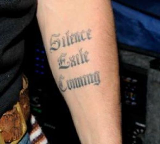 "johnny depp jack sparrow tattoo. Silence Exile Cunning "",Johnny"