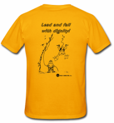 Rock Climbing T-shirt - Lead and Fall