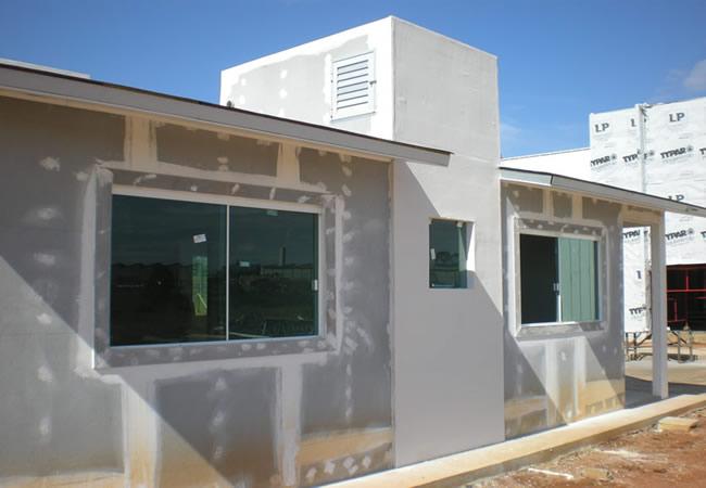 Gesso acartonado e casas americanas casas light steel - Casas steel framing ...