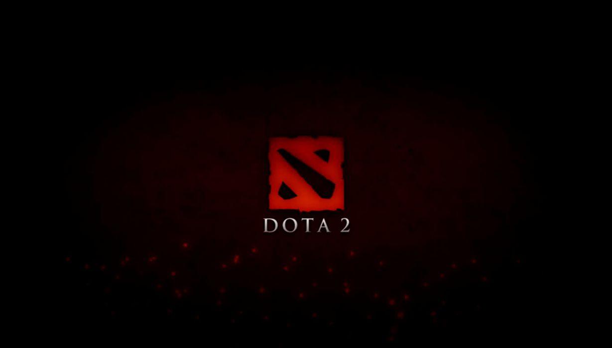 dota 2 logo fire hd wallpaper mega wallpapers