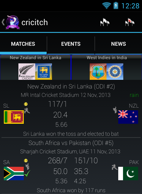 Cricket live score IPL-T20 today