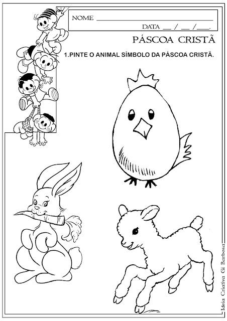 Atividade Animal Símbolo da Páscoa Cristã