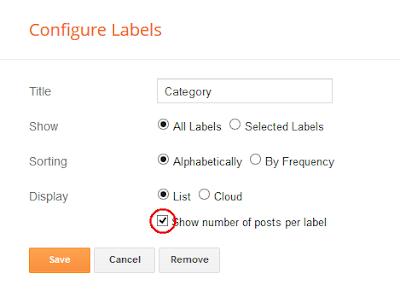 Configuration on Label