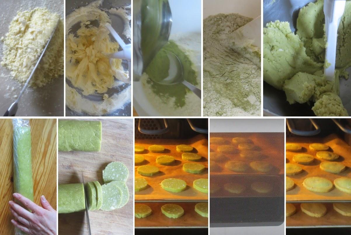 Zubereitung Matcha-Kekse mit weißer Schokolade
