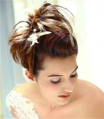 chignon mariage cheveux court