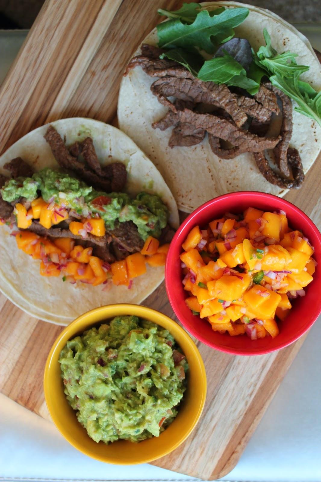 Chile Rub Steak Tacos with Summery Mango Salsa - All Floured Up