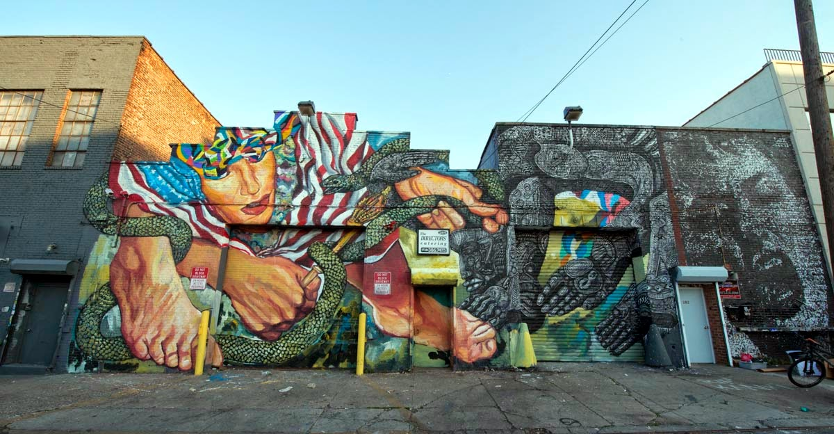 Ever and Zio Ziegler just finished working on this amazing new collaboration on the streets of Brooklyn in New York City.