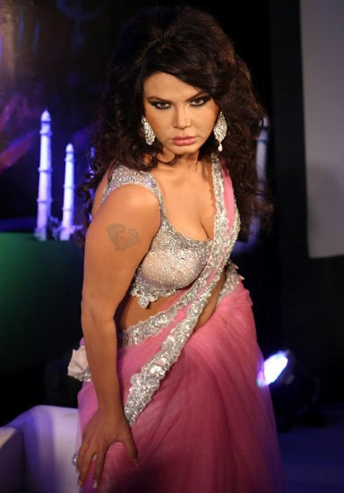 Rakhi Sawant deep cleavage and navel show