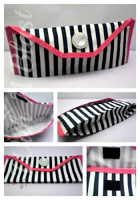 Make-Up Bag Set - 1 Large and 1 Small for your handbag    #sewing #makeupbags #toiletriesbag #makeup #storage #crafts via:withablast.blogspot.com