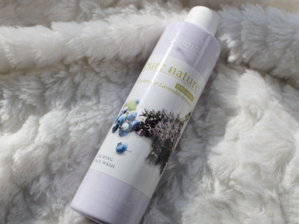 Oriflame Pure Nature Blueberry & Lavender Calming Face Wash.