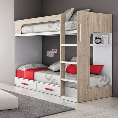 Dormitorios juveniles para dos hermanos - Escaleras para literas infantiles ...
