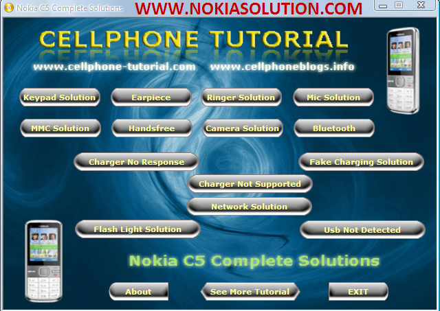 Nokia C5 Hardware Repairing Exe Contains