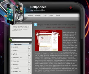 Cellphones Blogger Template