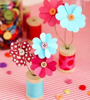 Florecitas para decorar hechas de papel portal de - Manualidades de papel para decorar ...