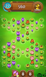 Screenshots of the Blossom blast saga for Android tablet, phone.
