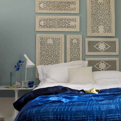 So smitten by this Moroccan inspired bedroom. Delicate filigree wok