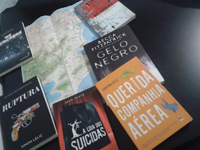 Libros en Portugués y Mapa de Rio / Livros em português e mapa de Rio