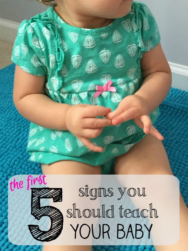 First 5 baby signs you should be teaching you child. With flashcards to help you remember