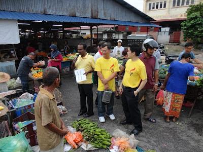 Sivakumar at Tronoh Market