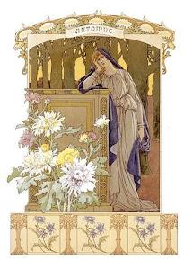 Μια art nouveau απεικόνιση του Φθινόπωρου.