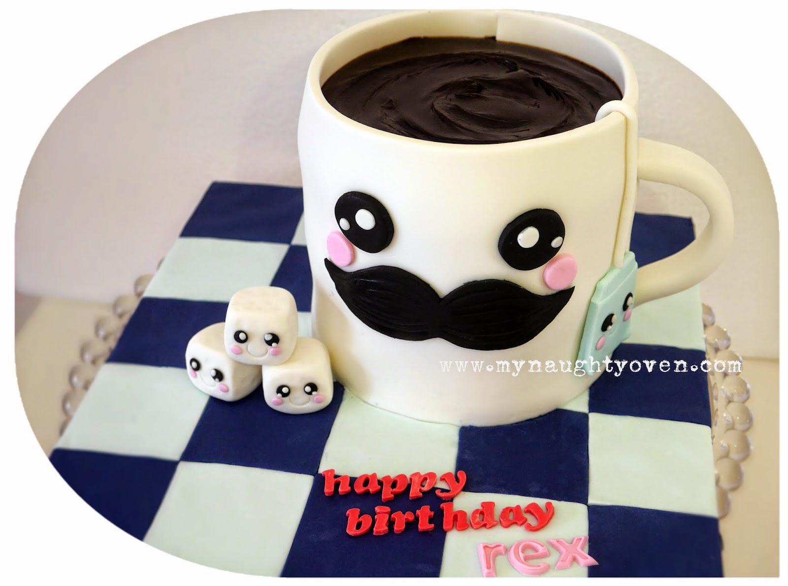 Adorable Coffee Mug Birthday Cake