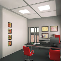 Дизайн кабинета директора и дизайн переговорной. АБК завода