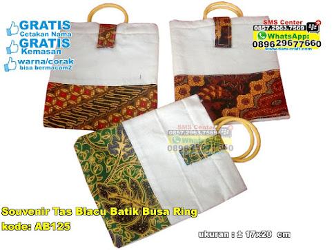 Souvenir Tas Blacu Batik Busa Ring murah