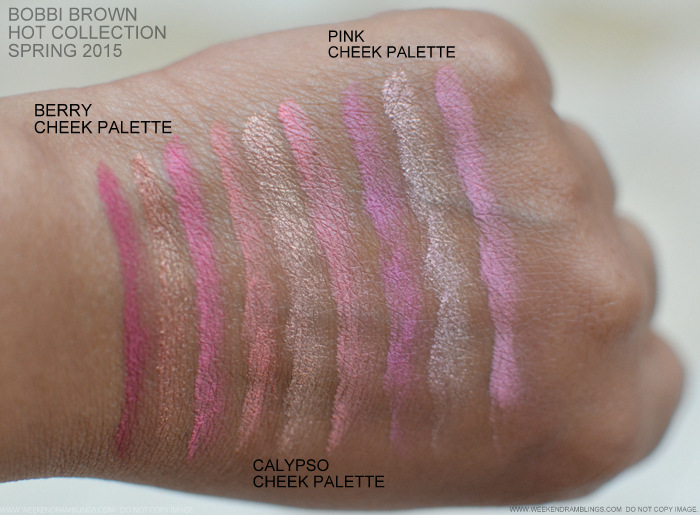 Bobbi Brown Kate Upton Hot Cheek Blush Palette Pink Berry Calypso Spring 2015 Makeup Collection Swatches