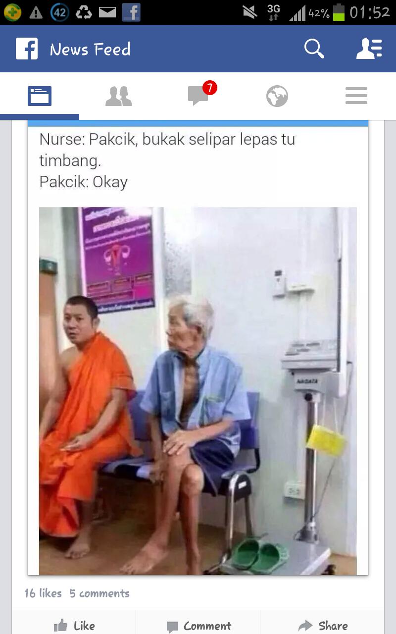 kisah lucu di hospital, lucu, lawak,