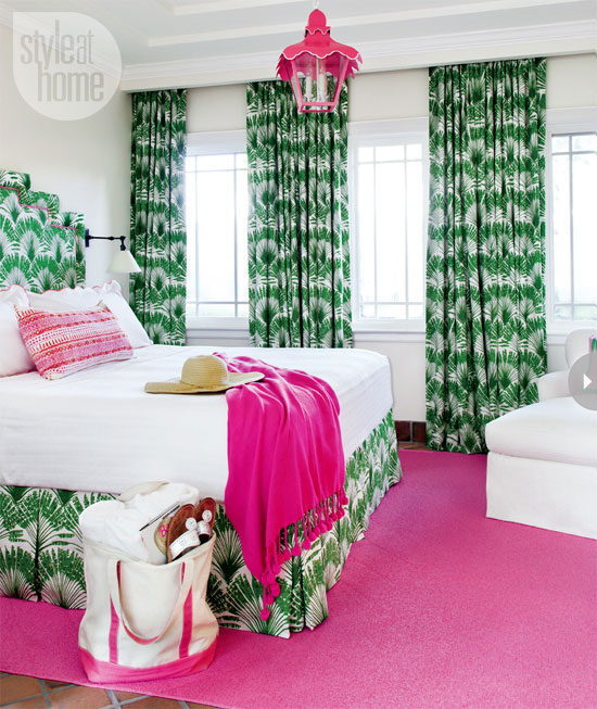 mix and chic home tour a bright and preppy miami guest