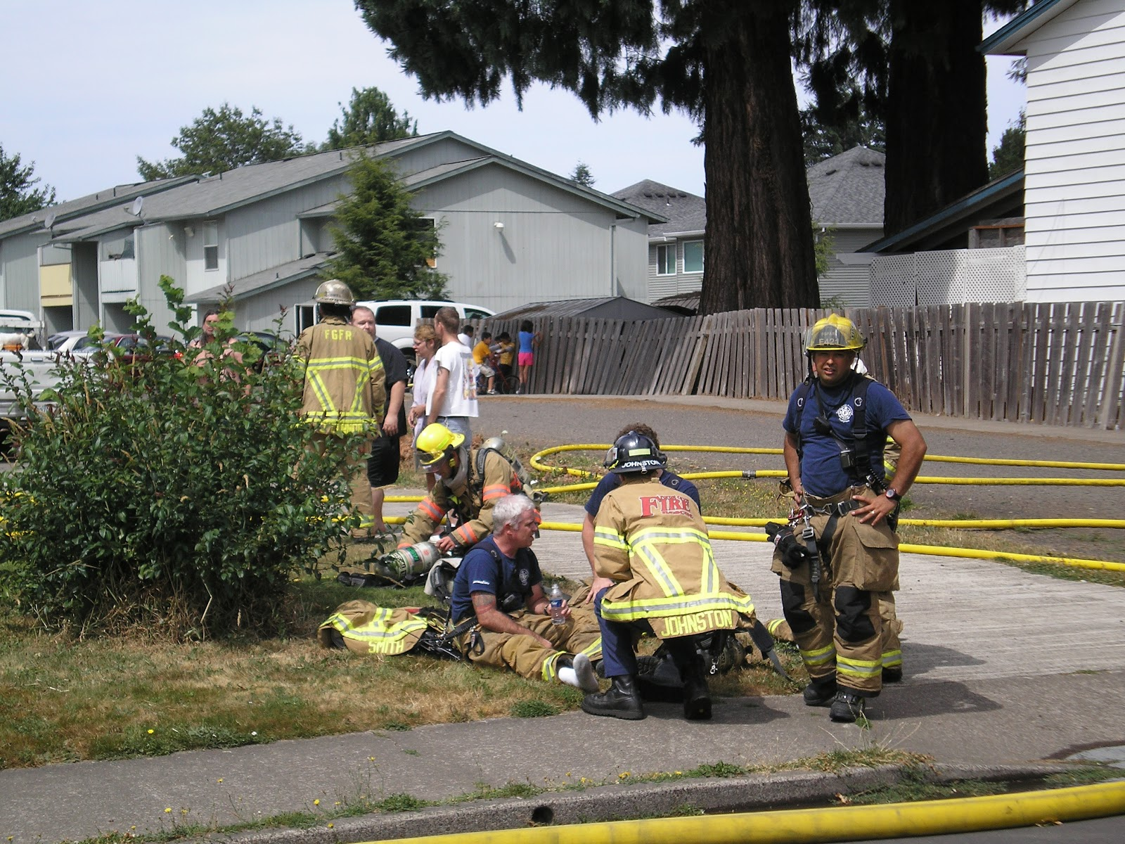 Forest Grove Backyard Burning : Forest Grove Firefighters tend to one of their own, Fire Captain Joe