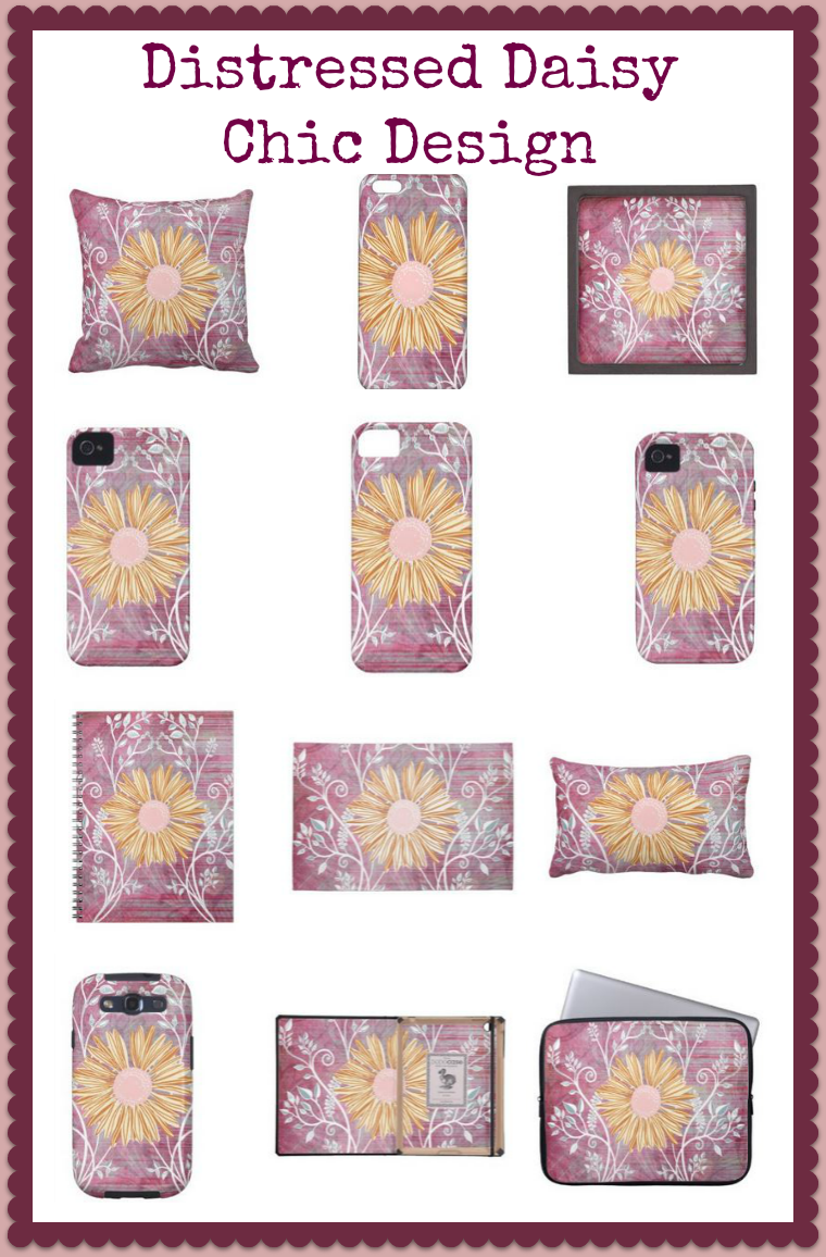 Distressed Floral Chic Design Home Decor and phone cases