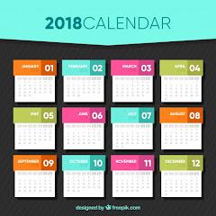 2018 年度行事曆