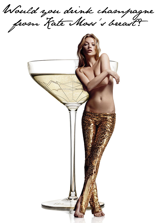 Kate Moss breast champagne