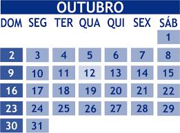 MÊS DE OUTUBRO 2016