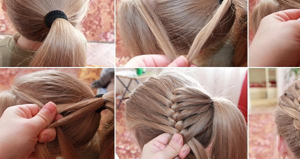 Braided Bun Hairstyle Tutorial Woman Fashion Trend