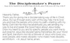 The Disciplemaker's Prayer