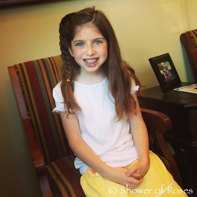Girl braces beautiful teen girl
