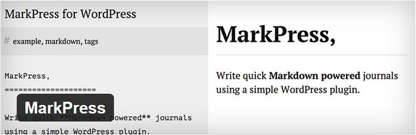 MarkPress plugin for WordPress