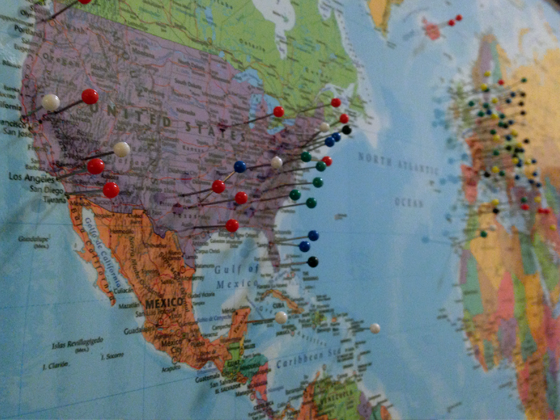 A Travelers Dream October 2014 – Travel Tracking Map