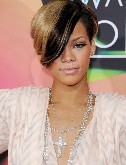 Rihanna short hairstyles 2011