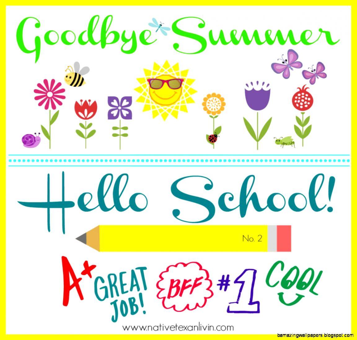 Native Texan Livin Goodbye Summer Hello School Year