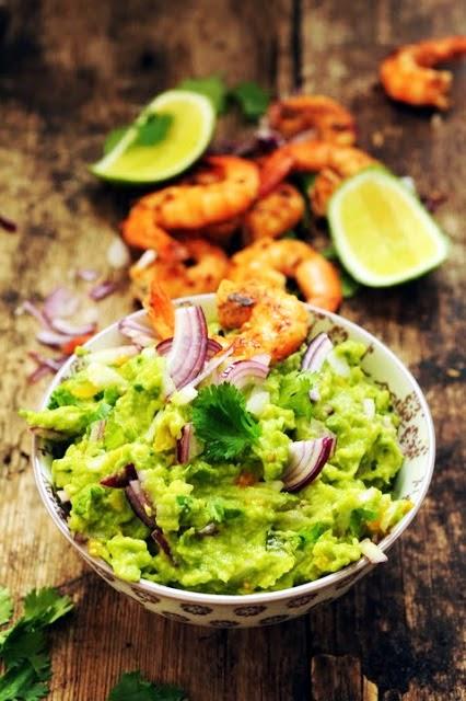 Le vendredi c'est retour vers le futur… Guacamole et crevettes épicées ! A disfrutar !!!