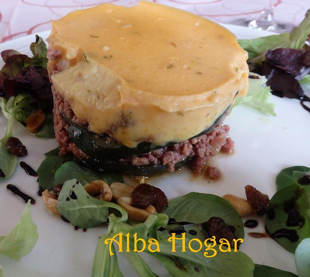 lasaña de calabacín carne y patata alba hogar